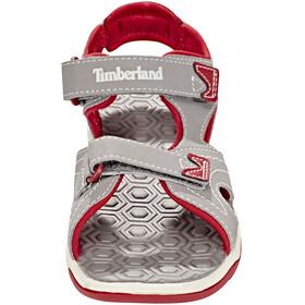 Timberland Adventure Seeker 2-Strap - Sandalias Niños - gris/rojo